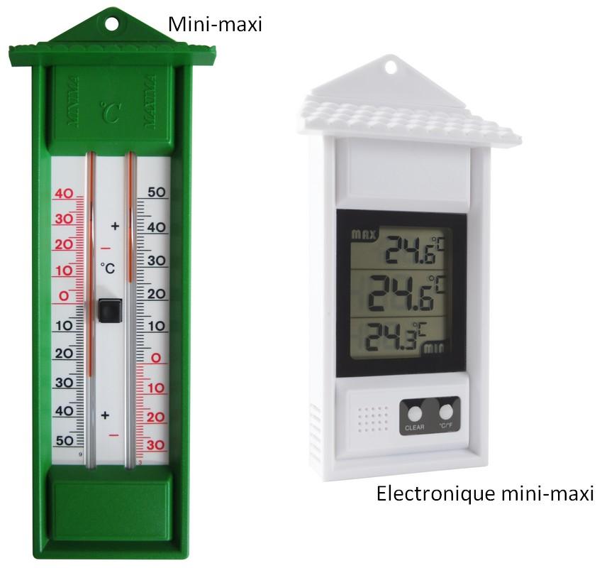 Illustration du produit : Thermomètre mini-maxi